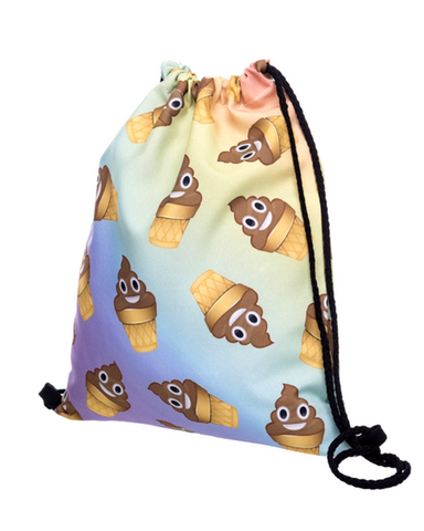 Poop Icecream Drawstring Bag
