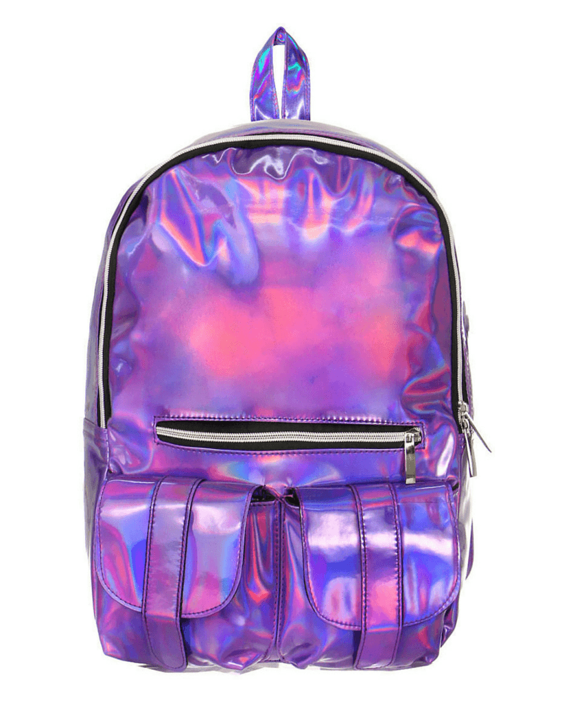 Purple Hologram Backpack