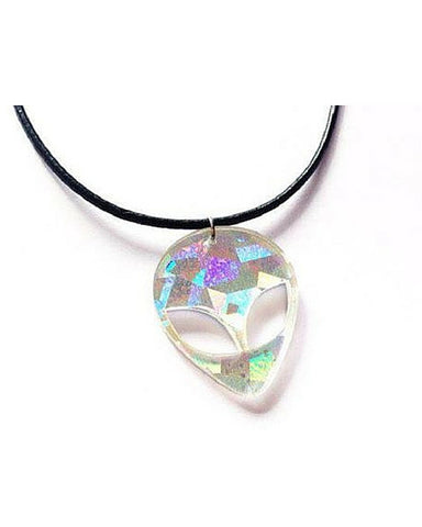 Holographic Alien Necklace