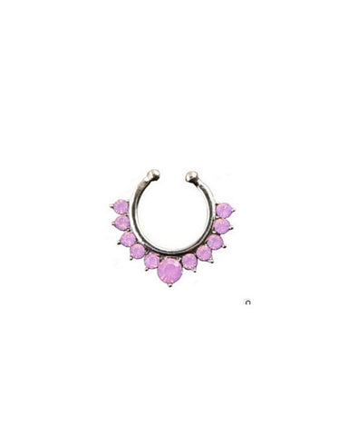 Pink Crystal Septum Ring