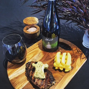 Bon appétit! 2014 Ghost Clare Valley Shiraz with chargrilled sirloin and Café de Paris Butter