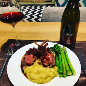 Ghost Wines Pinot Noir Jus with Lamb Rack Recipe