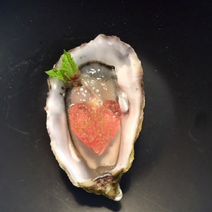 Oysters with 2017 Ghost Wines Adelaide Hills Rosé jelly