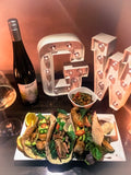 Ghost Wines NYE Mexican dishes with 2014 Ghost Clare Valley Pinot Gris