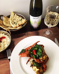 Indian-style chilli crab with 2014 Ghost Clare Valley Pinot Gris