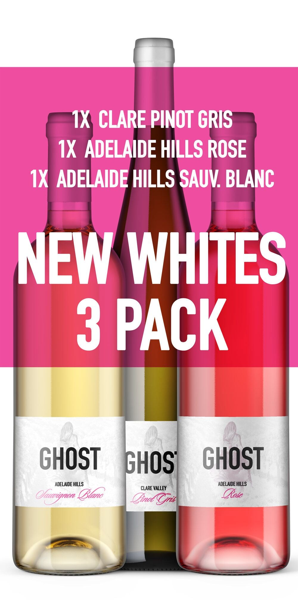 Ghost Whites 3 pack