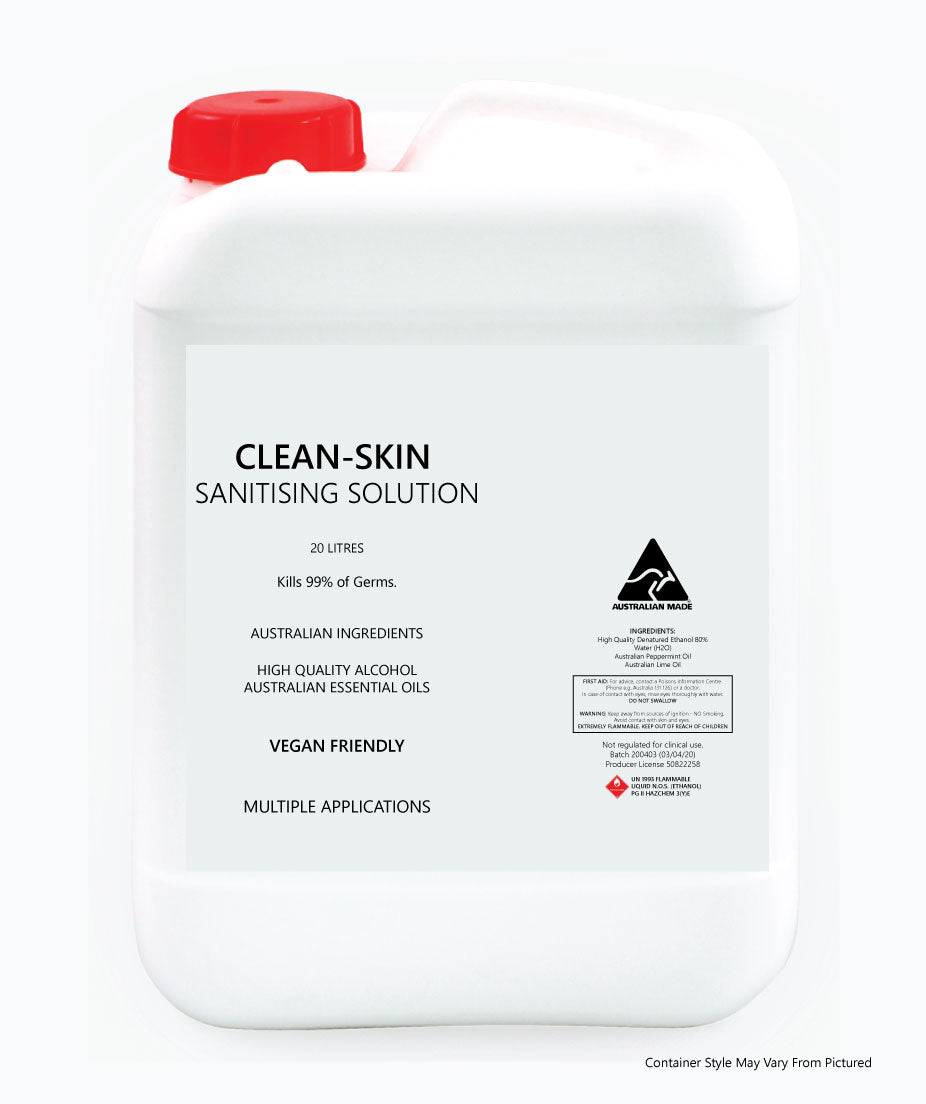 Sanitising Hand Rub - 20 LITRE Drum - Kills 99% of Germs - AUSTRALIAN MADE - Ghost Wines