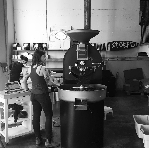 Robin the roaster anchored coffee