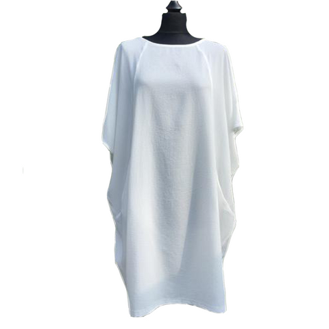 Crepe Effect Tunic Dress with Pockets