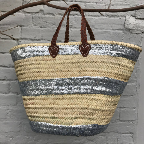 Sequin Stripe Basket