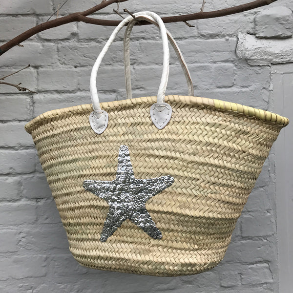Sequin Star Design Basket