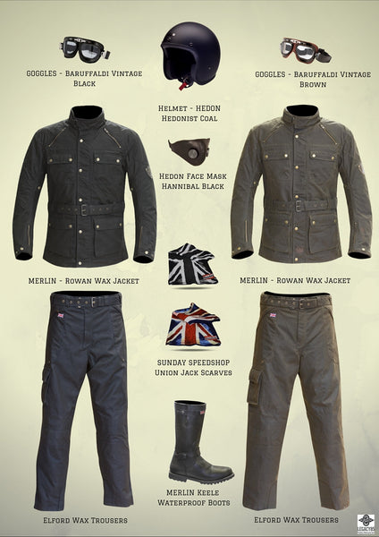 Classic Style Mens Motorcycle Clothing