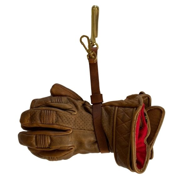 Vickers Motorcycle Co. Leather Glove Holder