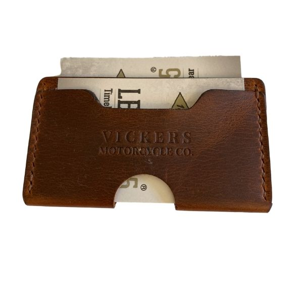Vickers Motorcycle Co. Leather Card Holder/Wallet