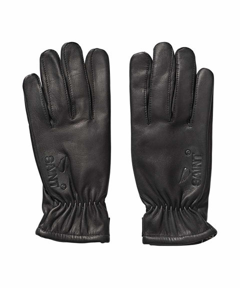 SA1NT LEATHER GLOVES WITH SPECTRA LINING - BLACK