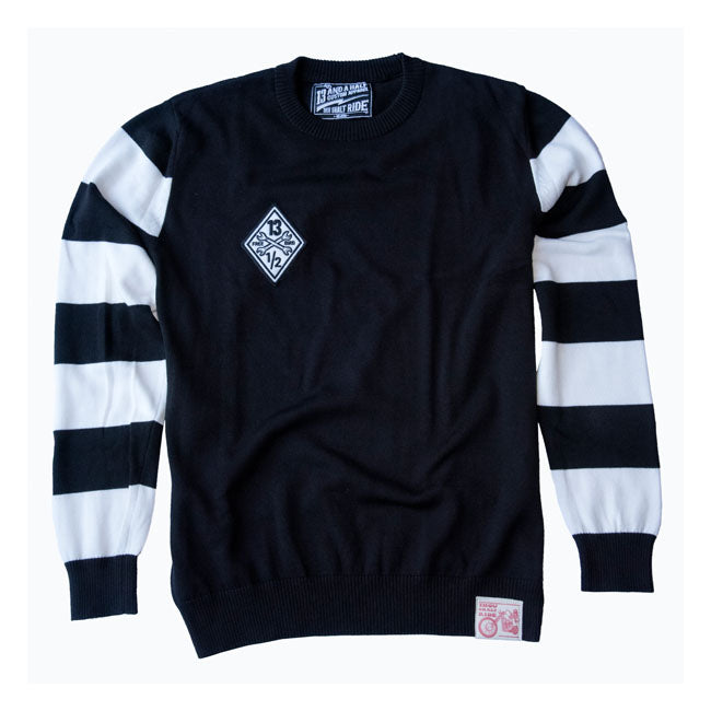 13 AND A HALF OUTLAW FREE BIRD SWEATER - BLACK / WHITE