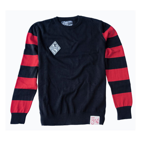 13 AND A HALF OUTLAW FREE BIRD SWEATER - BLACK / RED