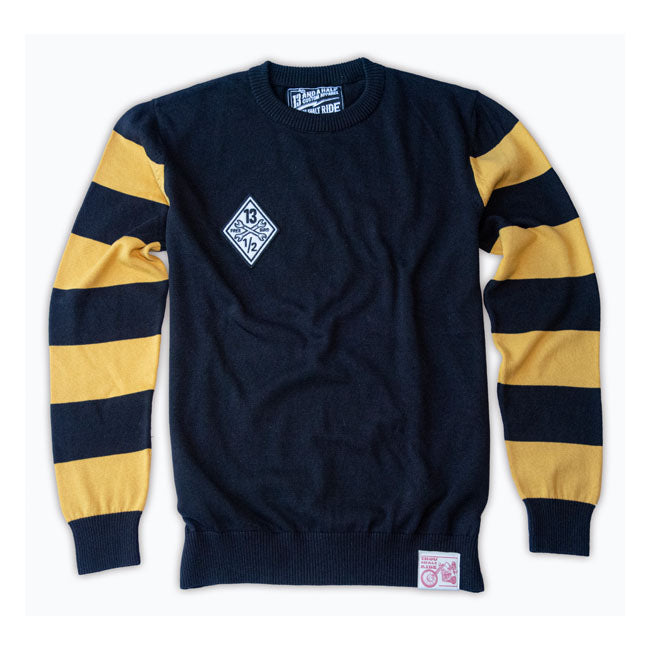 13 AND A HALF OUTLAW FREE BIRD SWEATER - BLACK / YELLOW