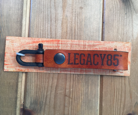 Legacy85 Leather Key or Wallet Loop - Steel Shackle