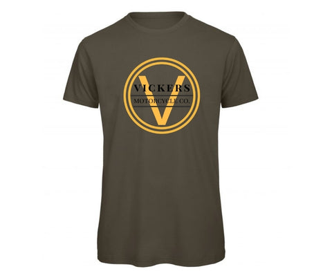 Vickers Motorcycle Gents T shirt - Gold Edition