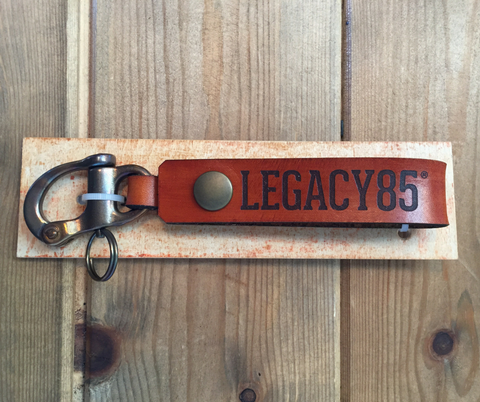 Legacy85 Leather Key or Wallet Loop - Snap Shackle