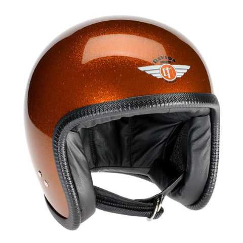 93356 - Cosmic Flake Orange Davida Speedsterv3 Helmet - Davida Motorcycle helmets