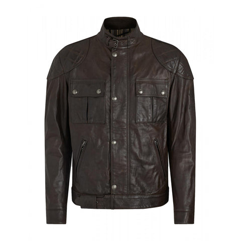 Belstaff Brooklands Leather Motorcycle Jacket