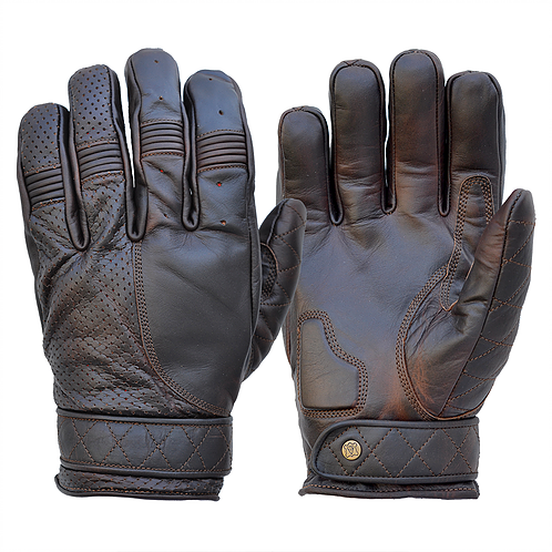 GOLDTOP - Short Bobber Gloves - Oiled Cognac