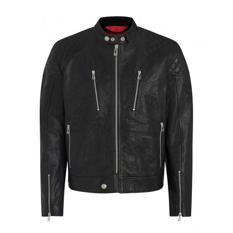 Belstaff Cheetham Leather Motorcycle Jacket