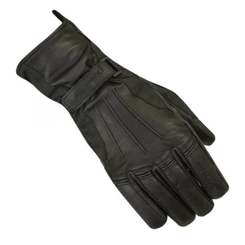 Merlin Darwin Outlast Waterproof Leather & Wax Cotton Motorcycle Gloves - Black
