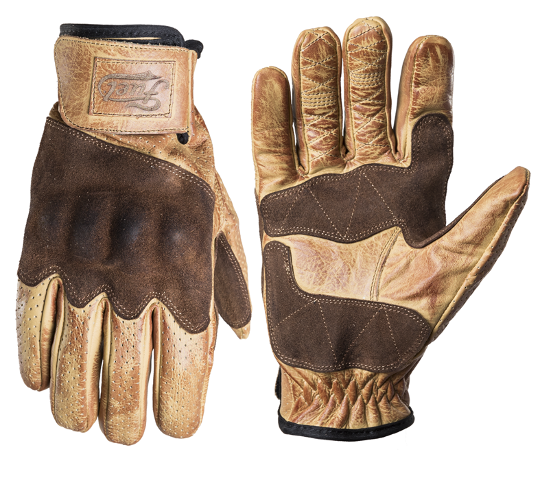 Fuel Rodeo Gloves - Yellow Leather