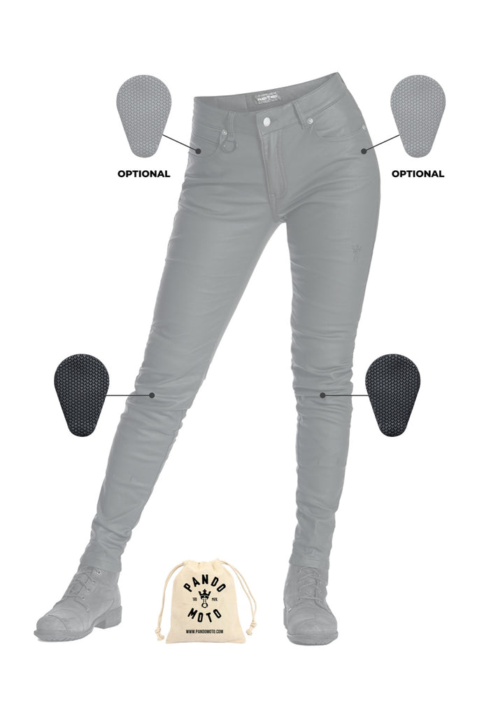 Pando Moto LORICA KEV 01 – Women's Skinny Fit Protective Motorcycle Jeans