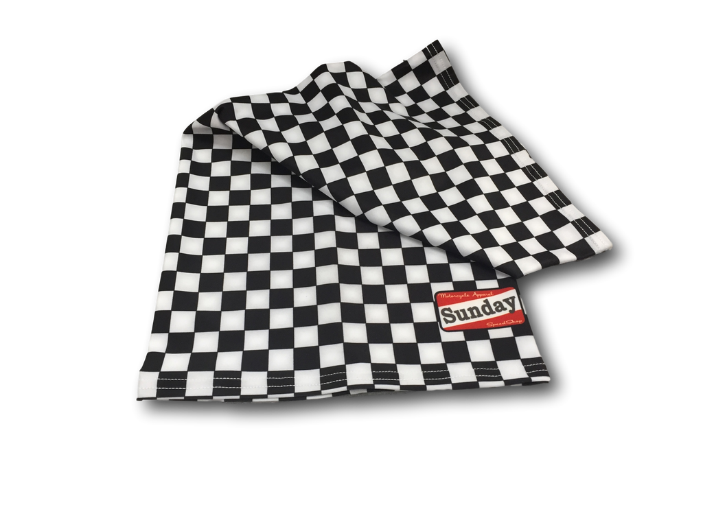 Chequered Motorcycle Scarf
