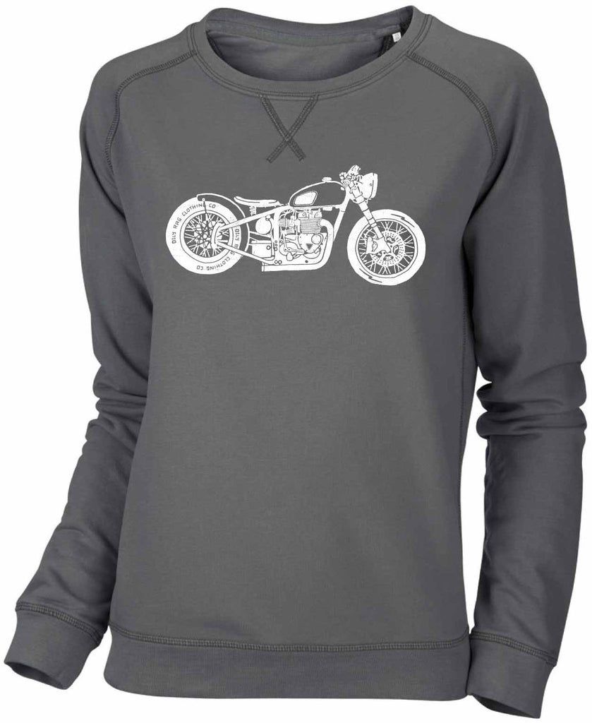 Oily Rag Clothing Ladies retro Bobber motorcycle sweat top