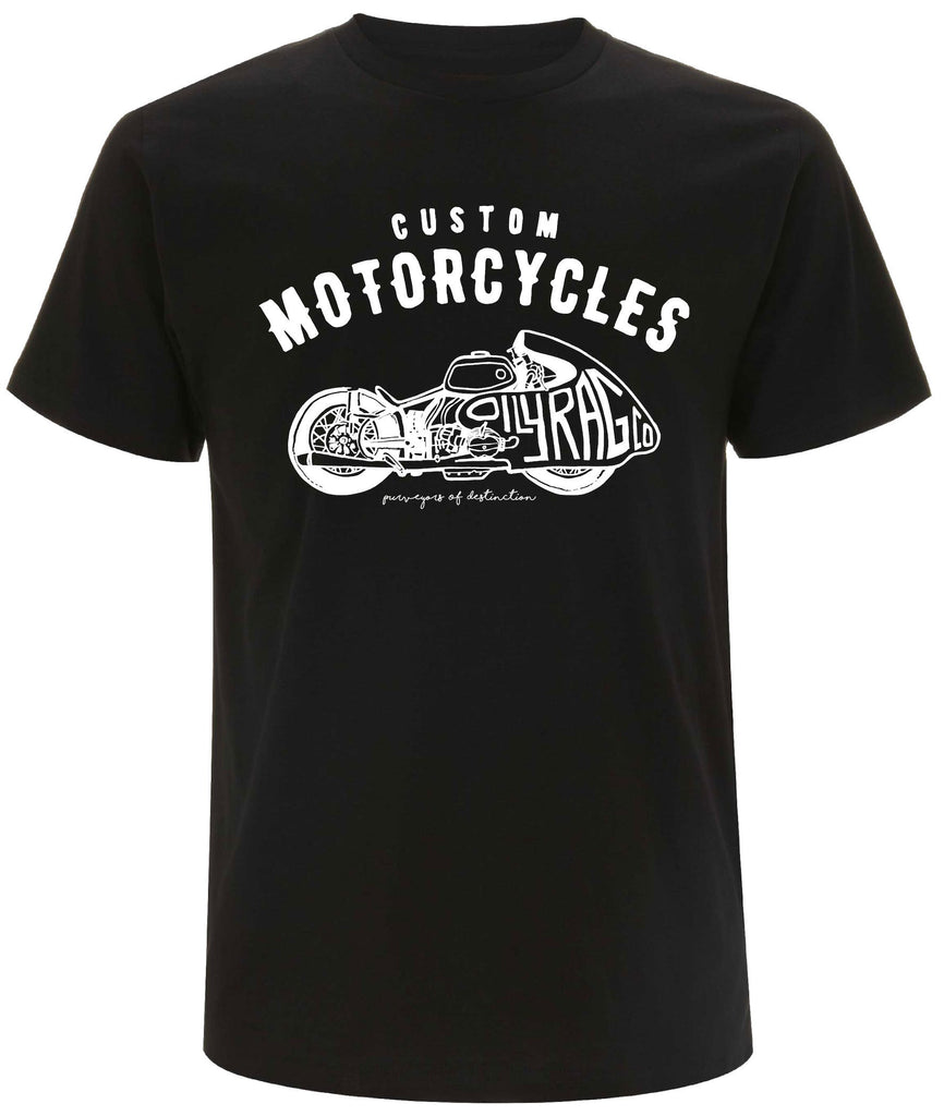 Oily Rag Clothing Racer drag bike inspired retro style t'shirt