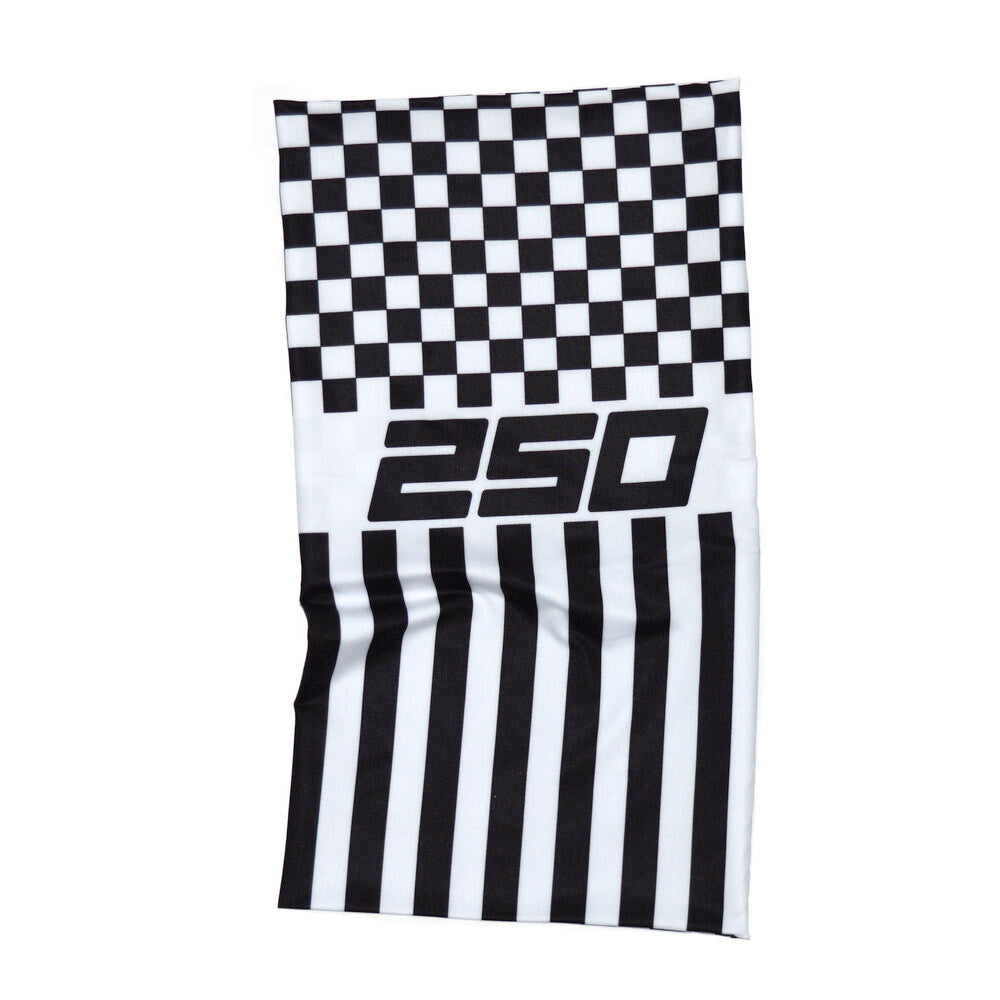 250London Neck Warmer Tubes - Taxi Patch Black/White