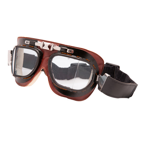 Baruffaldi Vintage Brown Leather Goggles