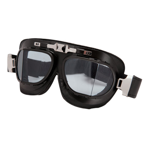 Baruffaldi Vintage Black Leather Goggles
