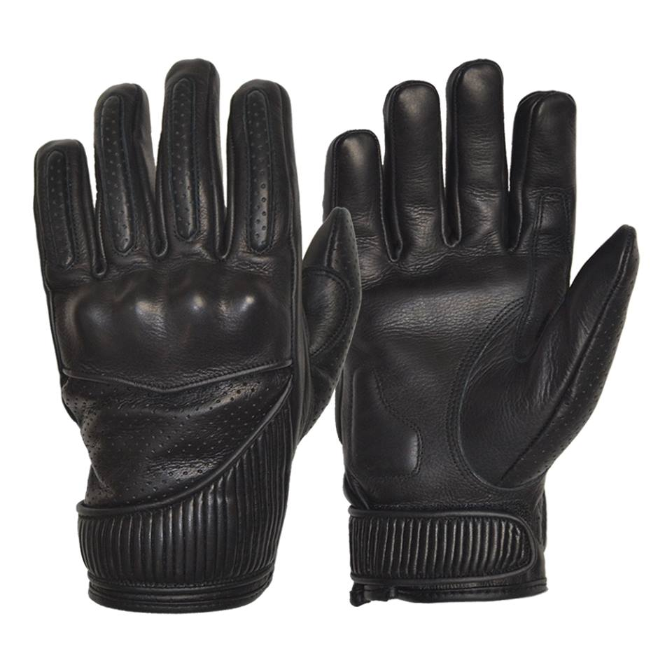 GOLDTOP Silk Lined VICEROY waxed leather glove - Black