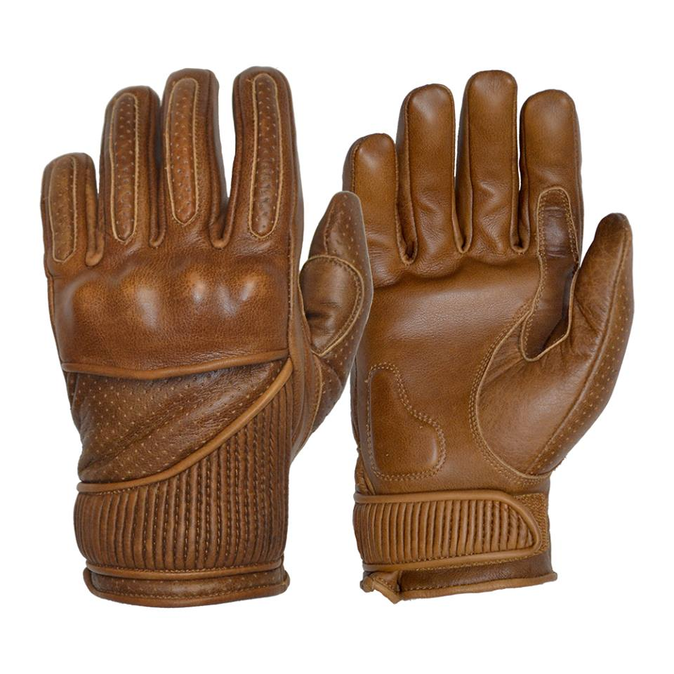 GOLDTOP Silk Lined VICEROY waxed leather glove - Brown