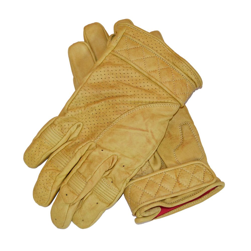 GOLDTOP - Short Bobber Gloves - Waxed Tan