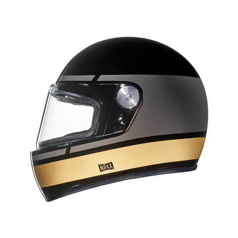 Nexx X.G100R Helmet - Record - Black/Grey/Gold