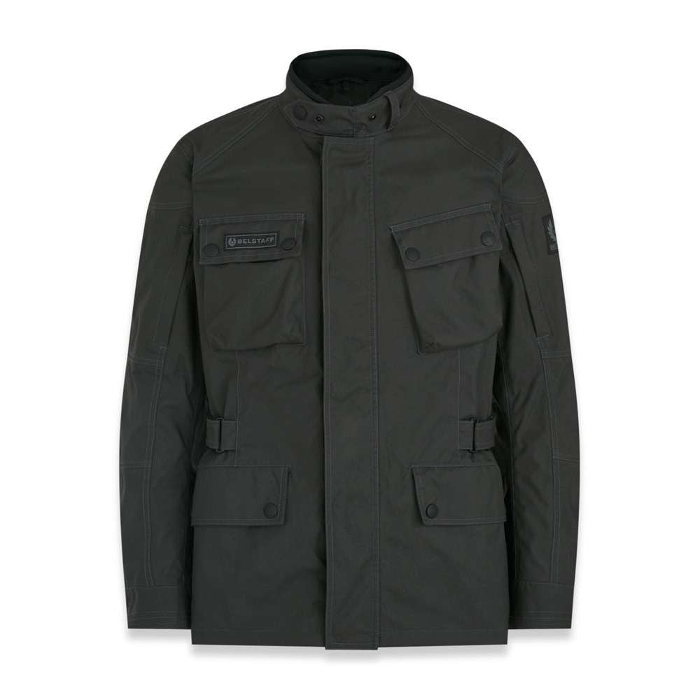 Belstaff Macklin Motorcycle Jacket - Military Green