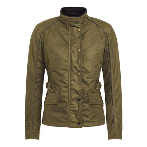 Belstaff Tourmaster PRO - Ladies Technical Wax Motorcycle Jacket - Military Green