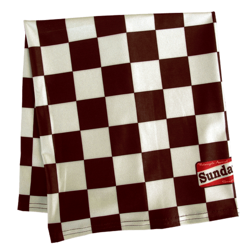 Damier Cafe Motorcycle Scarf
