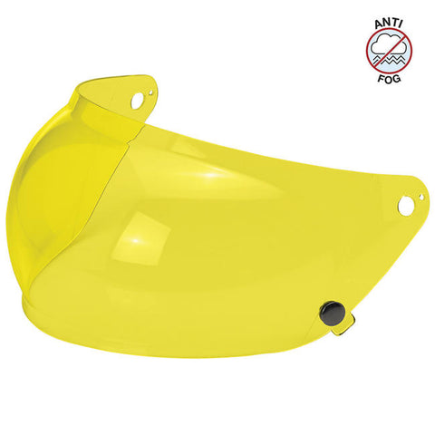 Biltwell Gringo S Bubble Visor - Yellow - Anti Fog