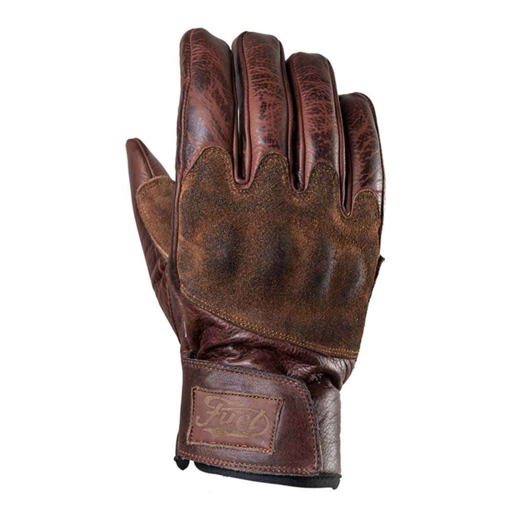 Fuel Rodeo Gloves - Brown Leather