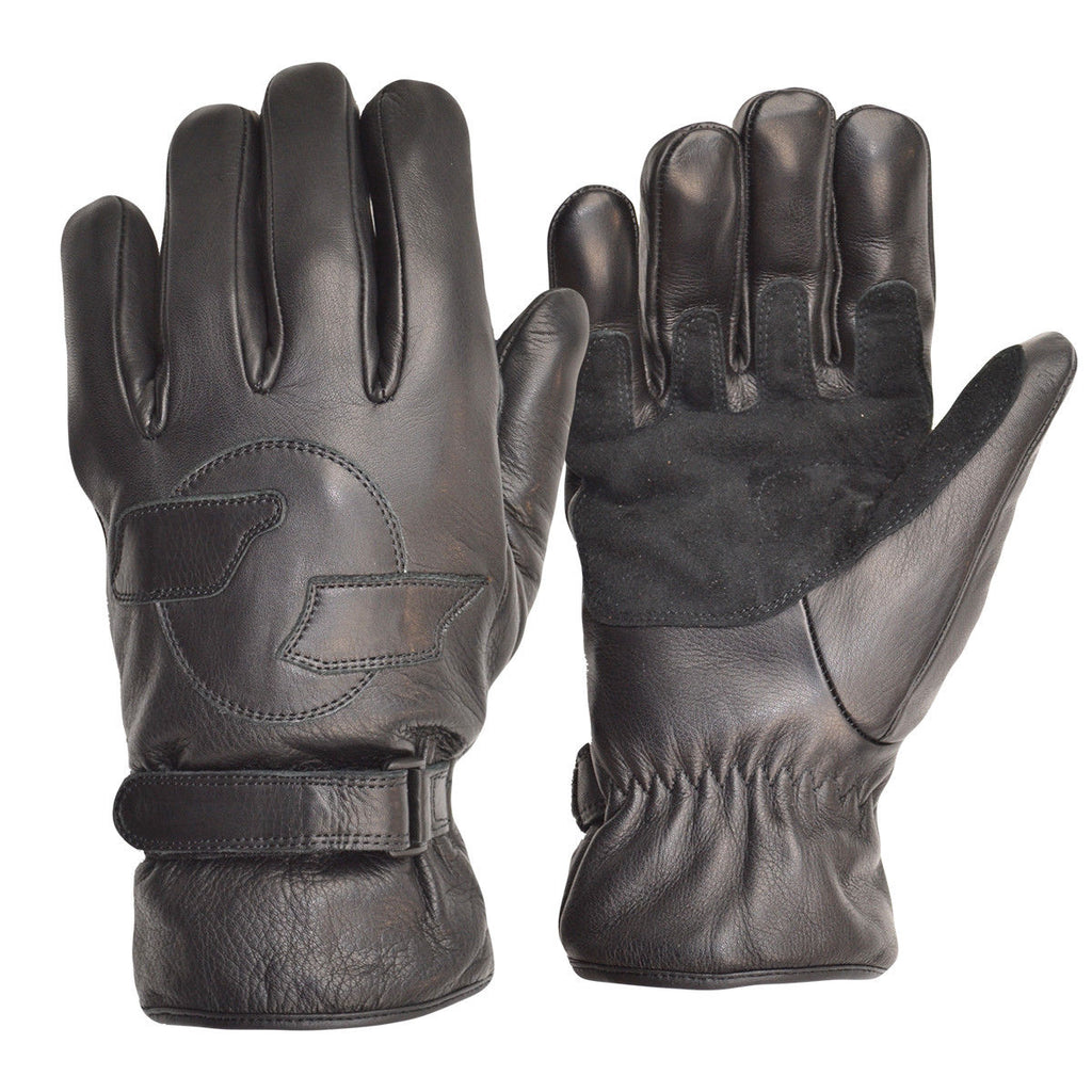 GOLDTOP - Unlined Black Leather Cruiser Glove