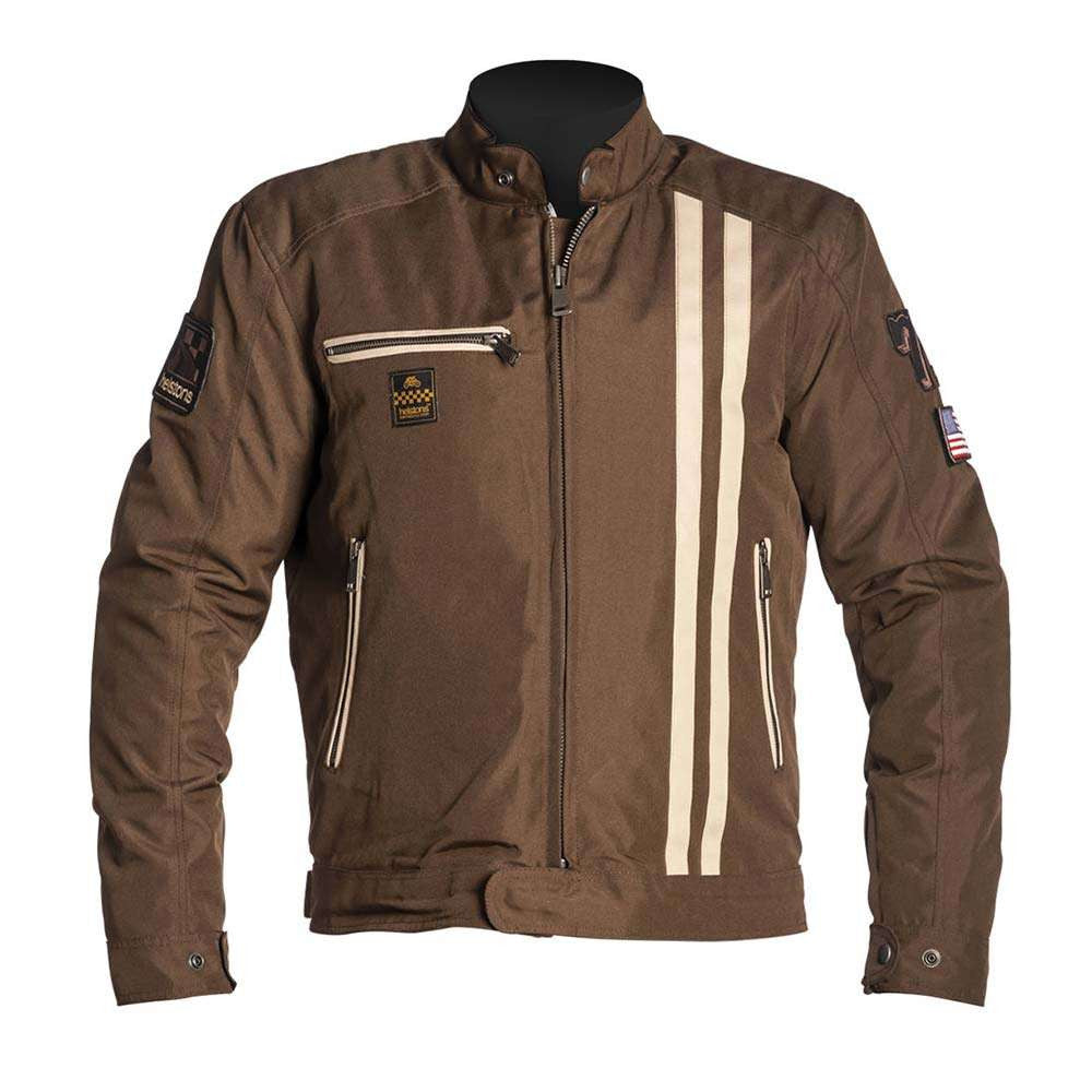 Helstons COBRA Motorcycle Jacket - Brown/Beige
