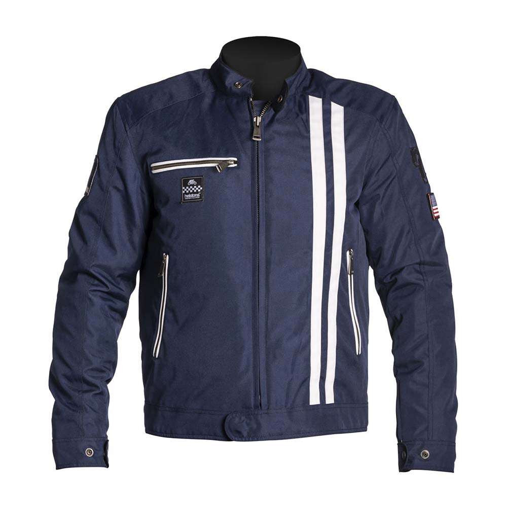 Helstons COBRA Motorcycle Jacket - Blue/White